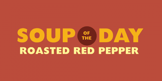 soup of the day promotional sign
