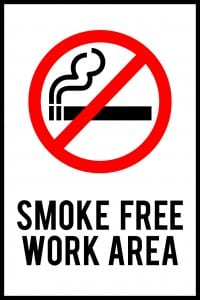 colorado smoke free work area sign
