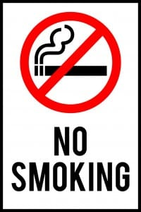 delaware no smoking sign 12x18