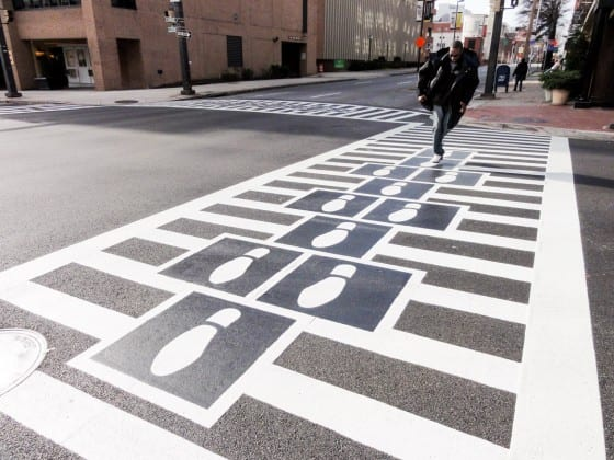 Hopscotch-Crosswalk-floor graphic