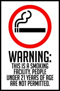 idaho smoking facility warning sign 12x18
