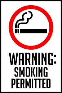 idaho smoking permitted sign 12x18
