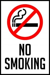 illinois no smoking sign 12x18