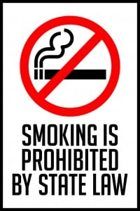 kansas smoking prohibited sign 12x18