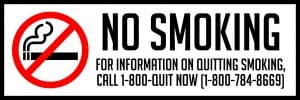maryland no smoking sign 18x6