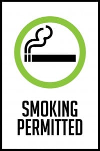maine smoking permitted sign 12x18