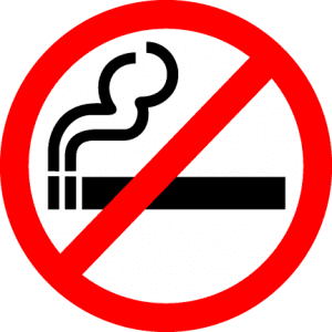 minnesota no smoking car decal 6x6