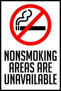 missouri nonsmoking areas sign 12x18