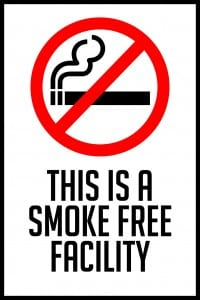 missouri smoke free facility sign 12x18
