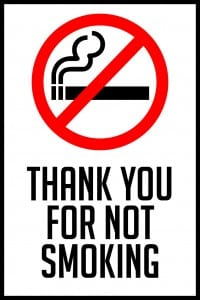 missouri thank you for not smoking sign 12x18
