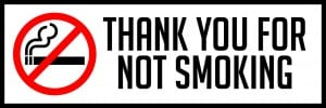 missouri thank you for not smoking sign horizontal