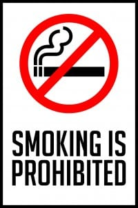montana smoking is prohibited sign 12x18