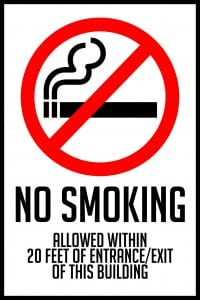 north dakota no smoking sign feet 12x18