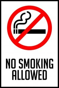 nebraska no smoking allowed sign 12x18