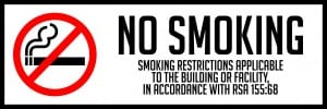new hampshire no smoking sign horizontal 18x6