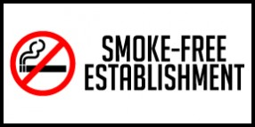 oklahoma no smoking sign 4x2