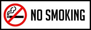 texas no smoking sign 18x6