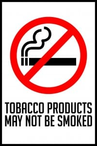 utah no tobacco products sign 12x18