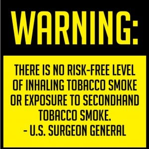 utah surgeon general smoking sign 8x8