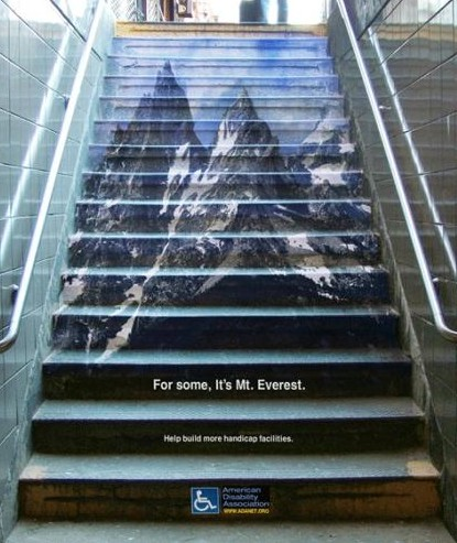 ada everest stair floor decal