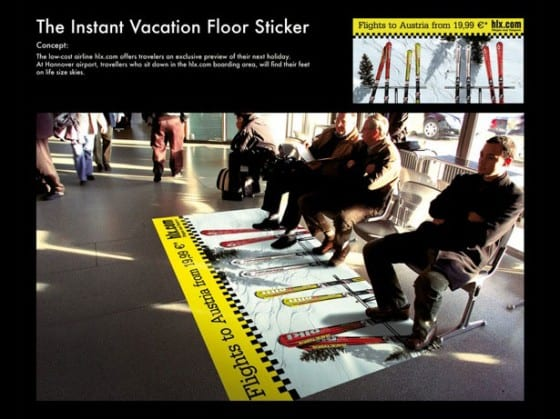 autria ski floor decal