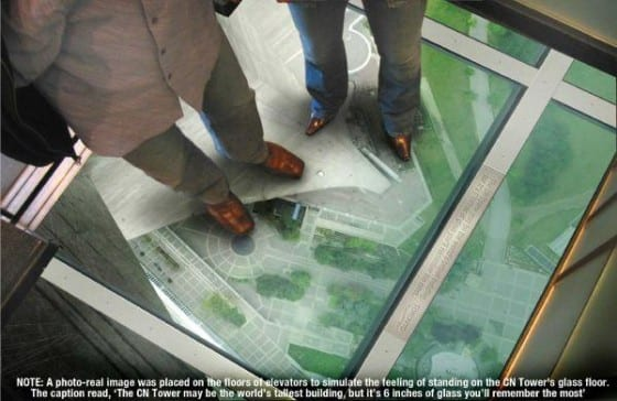 elevator glass floor