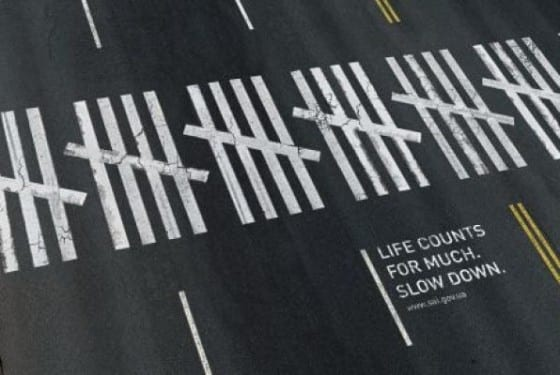life counts crosswalk floor decal
