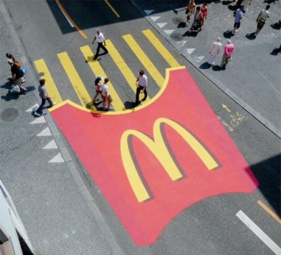 mcdonalds crosswalk floor graphic