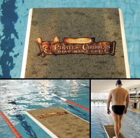 pirates of the caribbean diving board floor decal