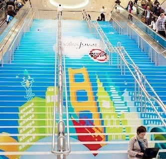 salesforce stair floor decal
