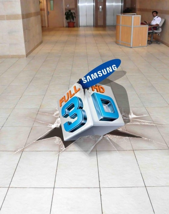 samsung 3d floor graphic