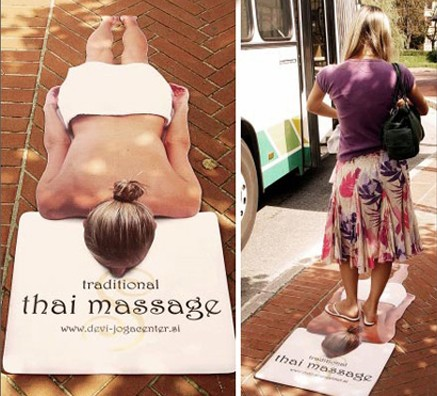 thai massage floor decal