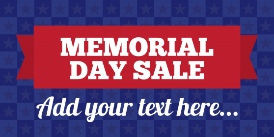 memorial day sale template