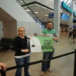 mormon missionary banner at airport