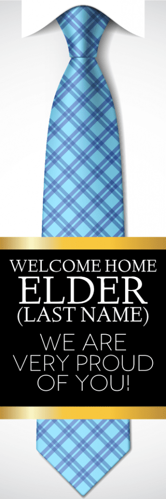 welcome home elder vertical tie sign