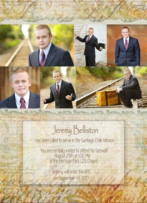 Missionary Announcement Invitation