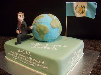 Missionary Cake With Globe and Flag