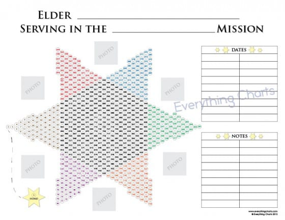Missionary Star Countdown Calendar