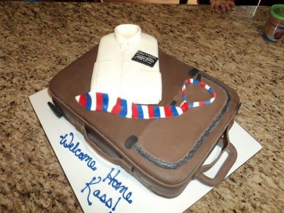 Missionary Suitcase & Shirt Cake