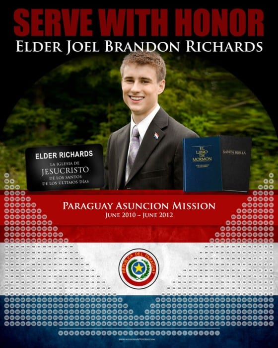 Personalized Missionary Countdown Calendar
