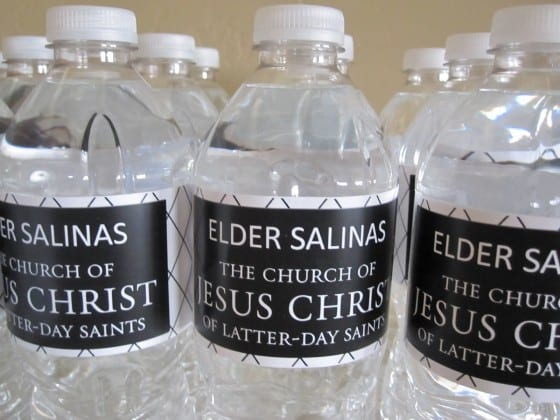 Missionary Water Bottle Labels