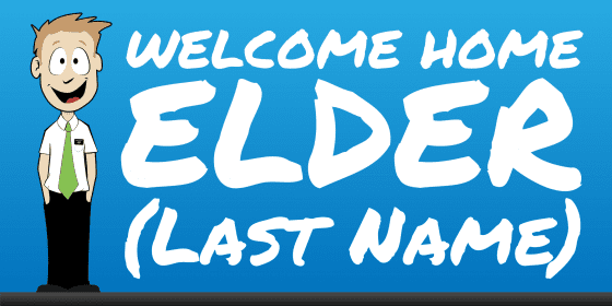 welcome home elder banner cartoon
