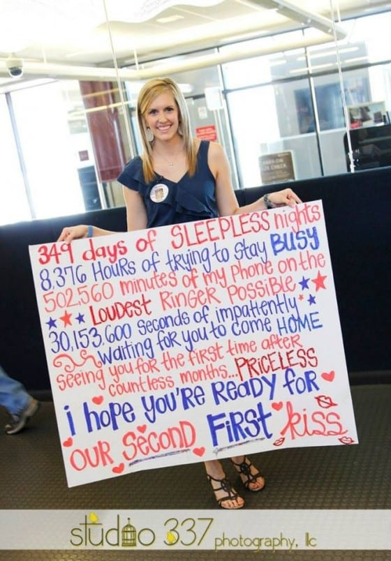 Military coming home signs for Welcome home soldier decorations