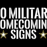 military homecoming signs feature image