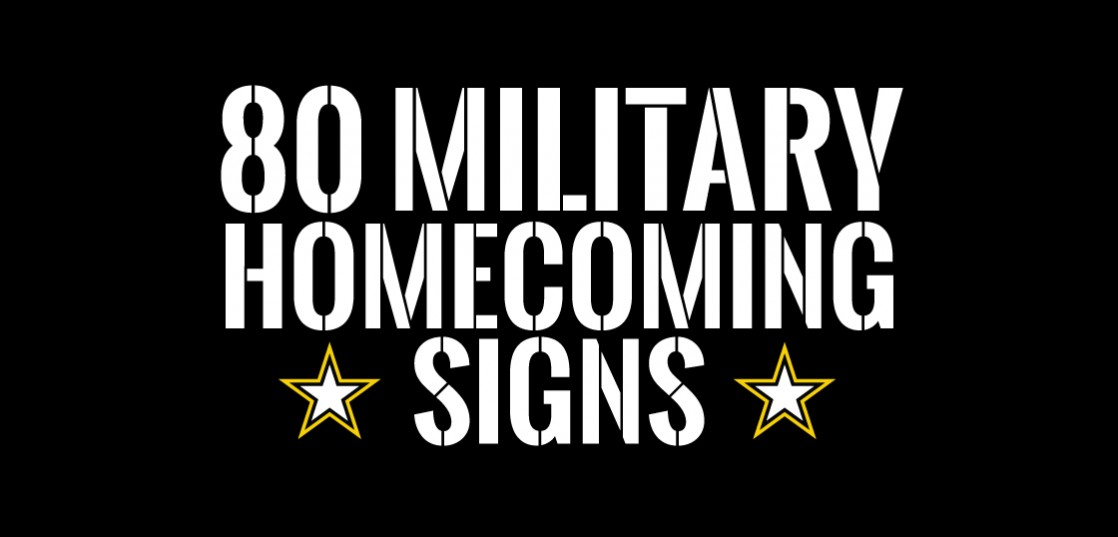 welcome home signs ideas for military homecomings