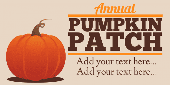 annual pumpkin patch banner