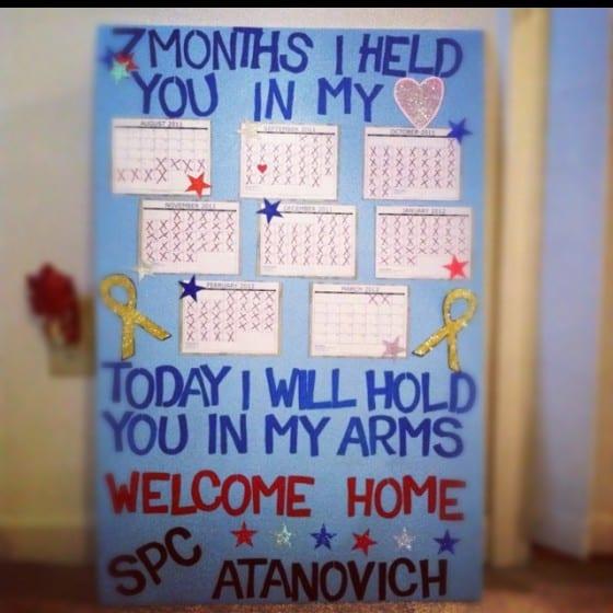 calendars homecoming sign