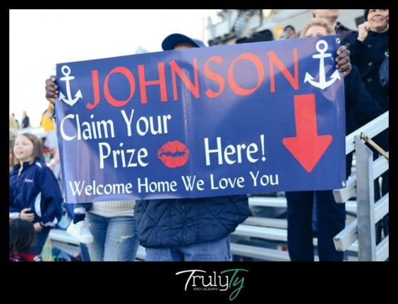 claim prize welcome home sign