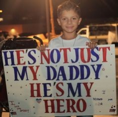 not just my daddy my hero sign