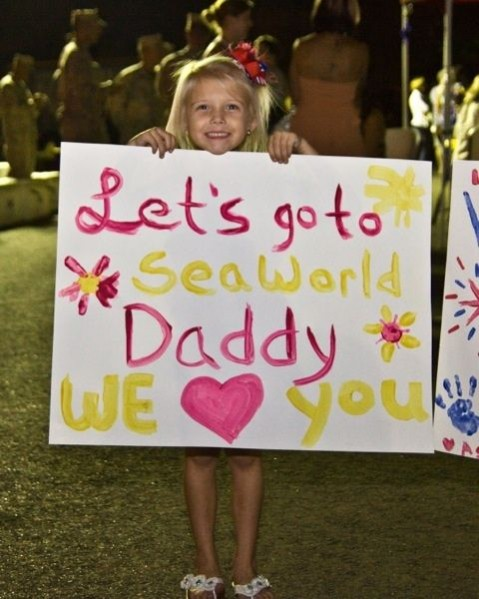 let's go to seaworld daddy sign